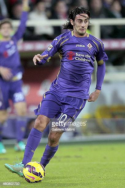 Alberto Aquilani of ACF fiorentina in action during the Serie A match betweeen ACF Fiorentina and Empoli FC at Stadio Artemio Franchi on December 21...