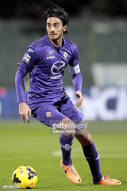 Alberto Aquilani of ACF Fiorentina in action during the Serie A match between ACF Fiorentina and AS Livorno Calcio at Stadio Artemio Franchi on...