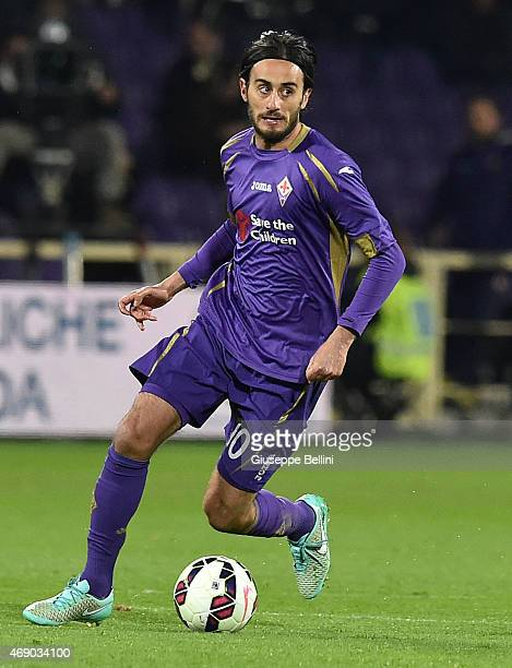 Alberto Aquilani of ACF Fiorentina in action during the TIM cup match between ACF Fiorentina and Juventus FC at Artemio Franchi on April 7 2015 in...