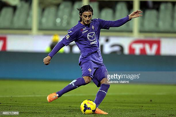 Alberto Aquilani of ACF Fiorentina scores a goal during the Serie A match between ACF Fiorentina and Genoa CFC at Stadio Artemio Franchi on January...