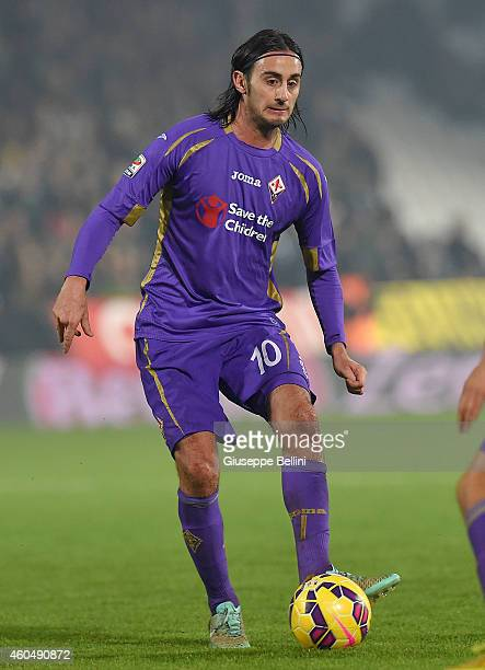 Alberto Aquilani of Fiorentina in action during the Serie A match between AC Cesena and ACF Fiorentina at Dino Manuzzi Stadium on December 14 2014 in...
