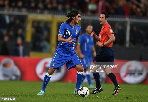 Alberto Aquilani of Italy in action during the International Friendly match between Italy and Albania at Luigi Ferraris on November 18 2014 in Genoa...