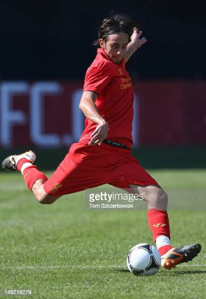 Alberto Aquilani of Liverpool advances the ball against Toronto FC during the World Football Challenge friendly match on July 21 2012 at Rogers...