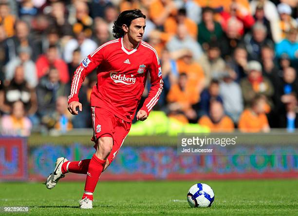 Alberto Aquilani of Liverpool during the Barclays Premier League match between Hull City and Liverpool at the KC Stadium on May 9 2010 in Hull England