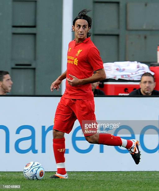 Alberto Aquilani of Liverpool during the Pre Season tour friendly between Liverpool and Roma on July 25 2012 in Boston Massachusetts