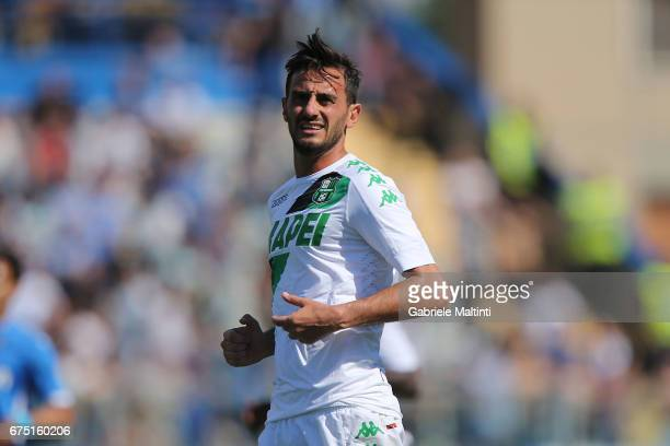 Alberto Aquilani of US Sassuolo in action during the Serie A match between Empoli FC and US Sassuolo at Stadio Carlo Castellani on April 30 2017 in...