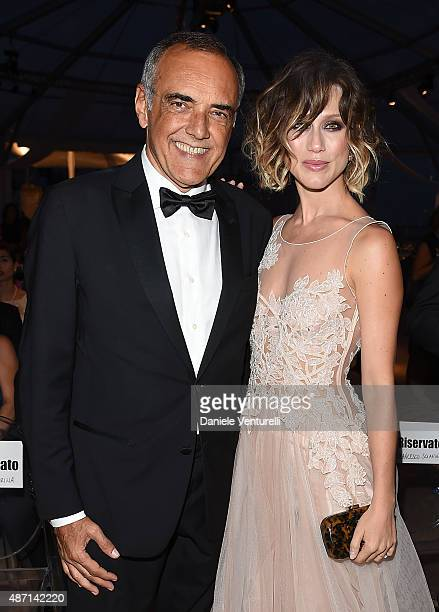 Alberto Barbera and Gabriella Pession attend the 'Kineo Award' Ceremony during the 72nd Venice Film Festival at on September 6 2015 in Venice Italy