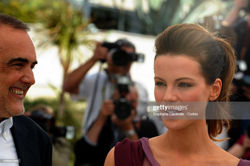 Alberto Barbera and Kate Beckinsale at the Jury Photocall during the 63rd Cannes International Film Festival.