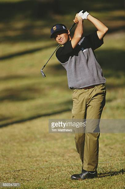 Alberto Binaghi of Italy during the PGA European Tour Portuguese Open on 13 March 1997 at the Aroeira Lisbon Portugal
