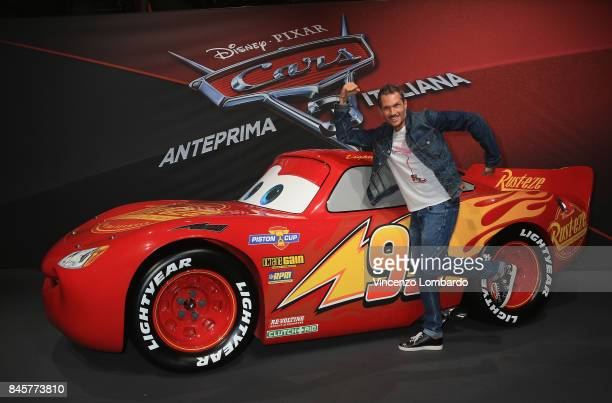 Alberto Bonato alias Alvin attends Cars 3 photocall in Milan on September 11 2017 in Milan Italy
