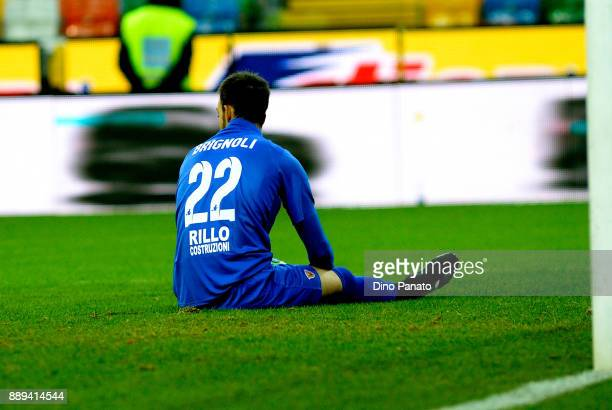 Alberto Brignoli goalkeeper of Benevento Calcio shoews his dejection during the Serie A match between Udinese Calcio and Benevento Calcio at Stadio...