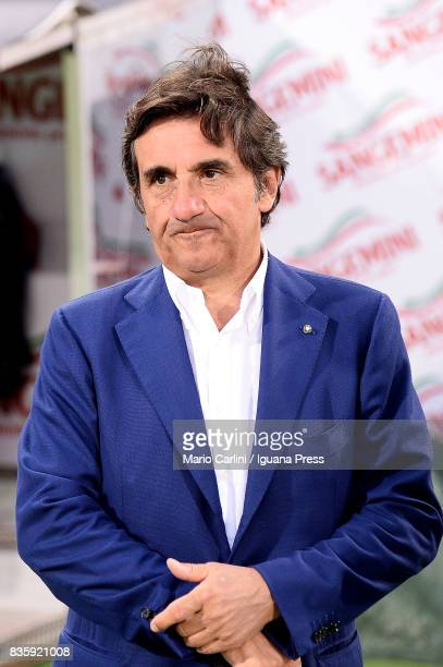 Alberto Cairo President of Torino FC looks on priore the beginning of the Serie A match between Bologna FC and Torino FC at Stadio Renato Dall'Ara on...