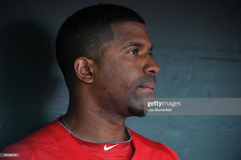 <a gi-track='captionPersonalityLinkClicked' href=/galleries/search?phrase=Alberto+Callaspo&family=editorial&specificpeople=835933 ng-click='$event.stopPropagation()'>Alberto Callaspo</a> #6 of the Los Angeles Angels of Anaheim looks on during the game against the Colorado Rockies at Tempe Diablo Stadium on March 9, 2013 in Peoria, Arizona.
