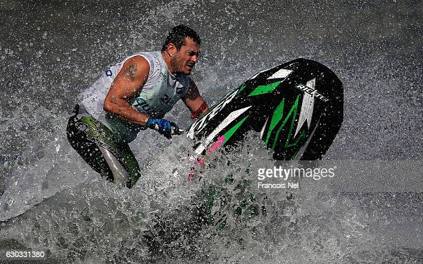 Alberto Camerlengo of Italy practice ahead of the the Aquabike Class Pro Circuit World Championships Grand Prix of Sharjah at Khalid Lagoon on...