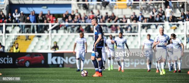Alberto Cerri in action during the Serie A match between Pescara Calcio and Udinese Calcio at Adriatico Stadium on March 12 2017 in Pescara Italy