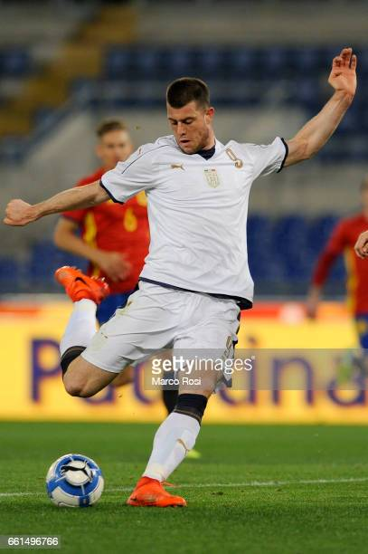 Alberto Cerri of Italy U21 during the international friendly match between Italy U21 and Spain U21 at Olimpico Stadium on March 27 2017 in Rome Italy