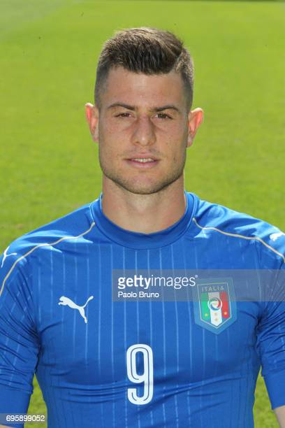 Alberto Cerri of Italy U21 poses during the official team photo at Centro Sportivo Fulvio Bernardini on June 14 2017 in Rome Italy