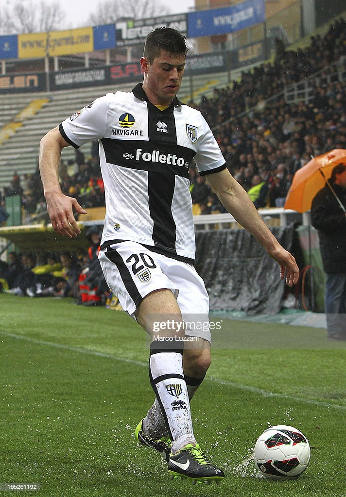 Alberto Cerri of Parma FC in action during the Serie A match between Parma FC and Pescara at Stadio Ennio Tardini on March 30, 2013 in Parma, Italy.