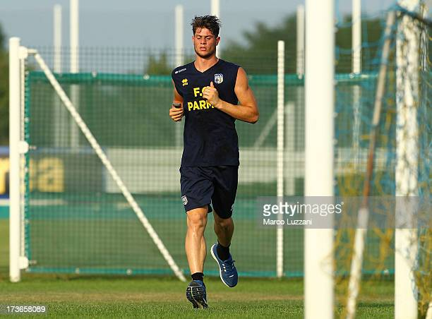 Alberto Cerri of Parma runs during FC Parma Training Session at the club's training ground on July 16 2013 in Collecchio Italy