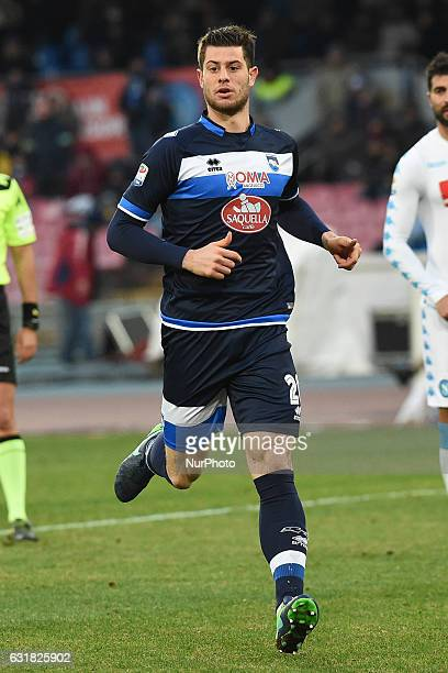 Alberto Cerri of Pescara Calcio during the Serie A TIM match between SSC Napoli and Pescara Calcio at Stadio San Paolo Naples Italy on 15 January 2017