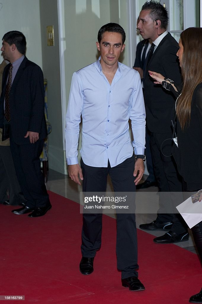 Alberto Contador attends 'As del Deporte' awards 2012 at Palace Hotel on December 10, 2012 in Madrid, Spain.
