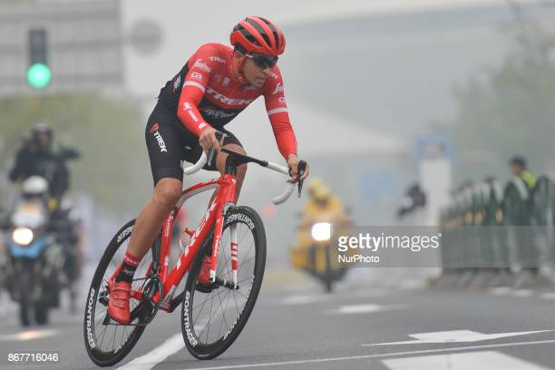 Alberto CONTADOR in action in front of the peloton during his last race the 1st TDF Shanghai Criterium 2017 On Sunday 29 October 2017 in Shanghai...