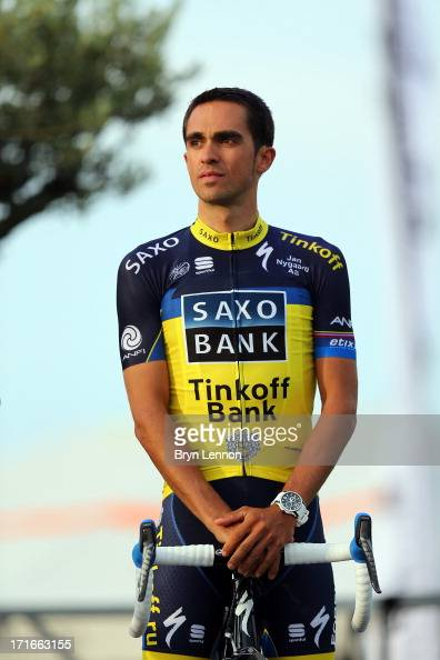 Alberto Contador of Spain and Team SaxoTinkoff attends the Team Presentation on June 27 2013 in PortVecchio Corsica