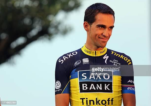 Alberto Contador of Spain and Team SaxoTinkoff attends the Team Presentation on June 27 2013 in PortVecchio Corsica