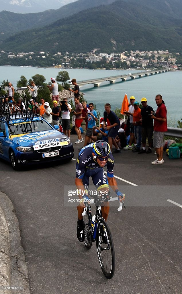 Alberto Contador of Spain and Team Saxo-Tinkoff climbs during Stage 17 of the Tour de France on Wednesday 17 July, 2013, Embrun to Chorges, France.