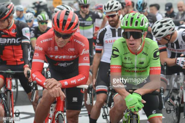 Alberto CONTADOR Rigoberto URAN at the start to the 1st TDF Shanghai Criterium 2017 On Sunday 29 October 2017 in Shanghai China