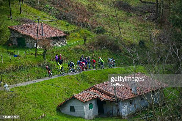 Alberto Contador Sergio Henao Joaquim Rodriguez during Stage Five of 56 Vuelta al Pais Vasco from Orio to Eibar on April 8 2016