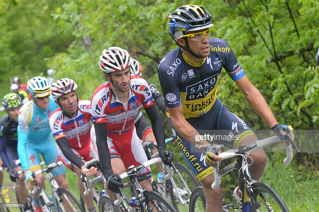 Alberto Contador Velasco of Team Saxo-Tinkoff during Stage Eight of the Criterium du Dauphine, Sisteron to Risoul, France on Sunday 09 June 2013.