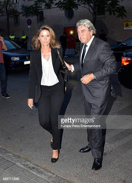 Alberto Cortina and Elena Cue attend the funeral chapel for Isidoro Alvarez president of El Corte Ingles who died at 79 aged on September 14 2014 in...