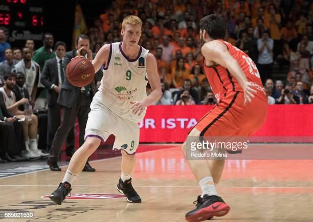 Alberto Diaz #9 of Unicaja Malaga in action during the 20162017 7Days Eurocup Finals Leg 3 Valencia Basket v Unicaja Malaga at Pabellon Fuente de San...