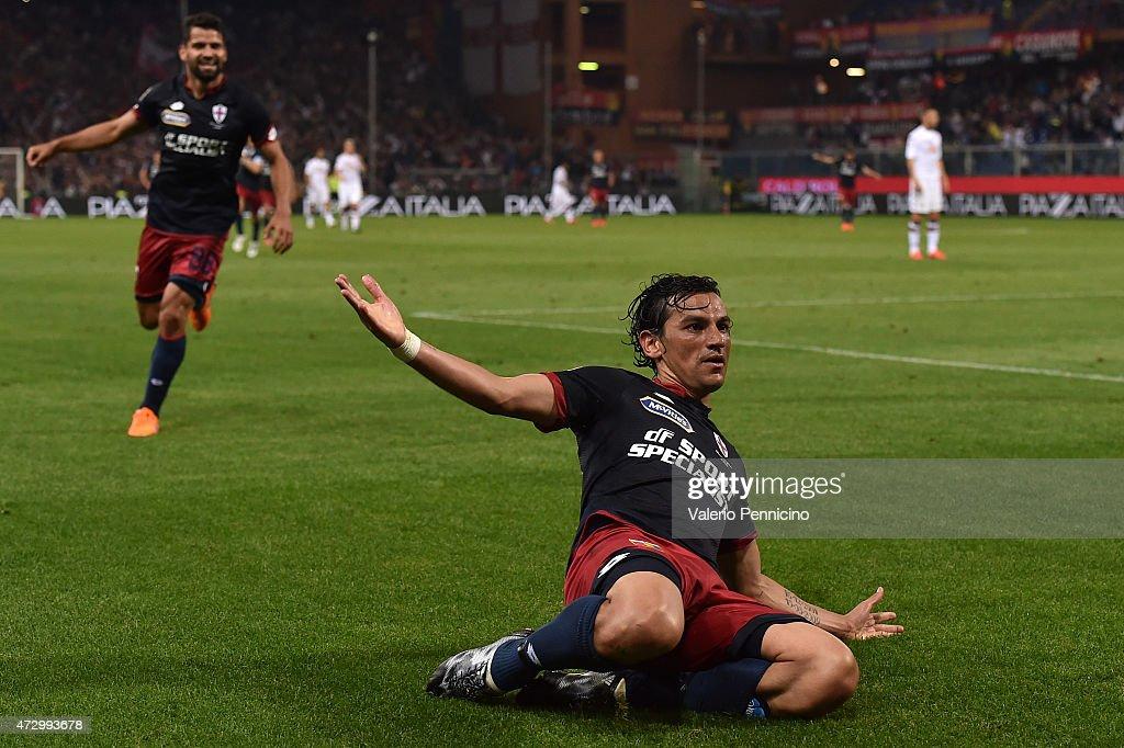 Alberto Facundo Costa of Genoa CFC celebrates his second goal during the Serie A match between Genoa CFC and Torino FC at Stadio Luigi Ferraris on...