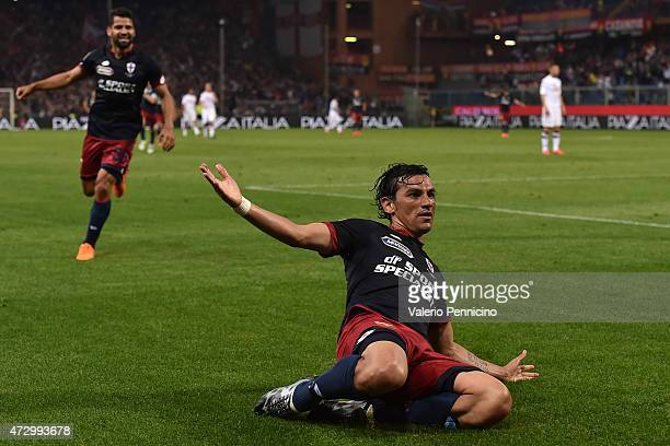 Alberto Facundo Costa of Genoa CFC celebrates his second goal during the Serie A match between Genoa CFC and Torino FC at Stadio Luigi Ferraris on...