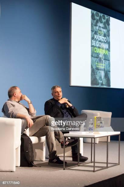 Alberto Garlini and Maurizio De Giovanni attend Tempo Di Libri Book Show on April 22 2017 in Milan Italy