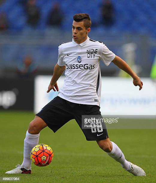 Alberto Grassi of Atalanta BC in action during the Serie A match between AS Roma and Atalanta BC at Stadio Olimpico on November 29 2015 in Rome Italy