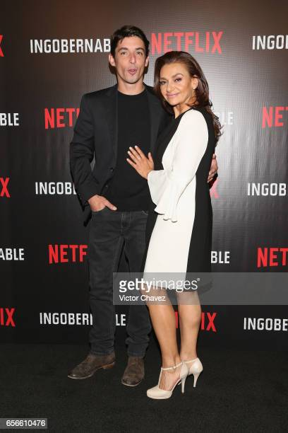 Alberto Guerra and Aida Lopez attend a photocall and press conference to promote Netflix's series 'Ingobernable' at St Regis Hotel on March 22 2017...