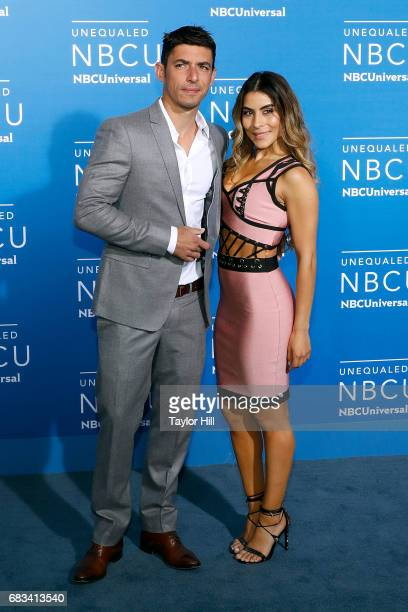 Alberto Guerra and Maria Leon attend the 2017 NBCUniversal Upfront at Radio City Music Hall on May 15 2017 in New York City