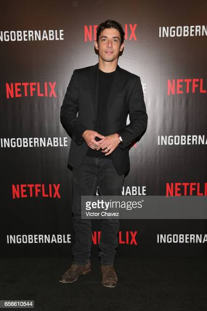 Alberto Guerra attends a photocall and press conference to promote Netflix's series 'Ingobernable' at St Regis Hotel on March 22 2017 in Mexico City...