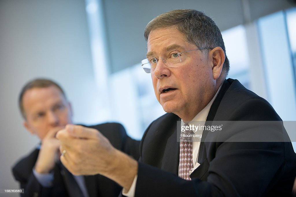 Alberto Ibarguen, president and chief executive officer of The Knight Foundation, speaks during an interview in New York, U.S., on Wednesday, Dec. 12, 2012. The Knight Foundation is shifting its strategy from charity to 'social investing' as news and information delivery becomes digital, Ibarguen said in an interview in October. Photographer: Scott Eells/Bloomberg via Getty Images