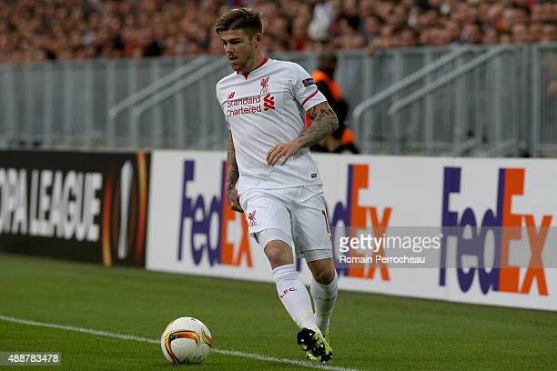 Alberto Moreno for Liverpool FC in action during the Europa League game between FC Girondins de Bordeaux and Liverpool FC at Matmut Atlantique...