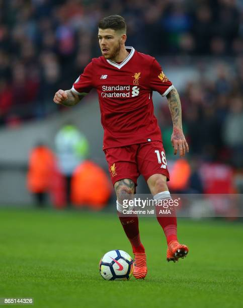 Alberto Moreno of Liverpool during the Premier League match between Tottenham Hotspur and Liverpool at Wembley Stadium on October 22 2017 in London...