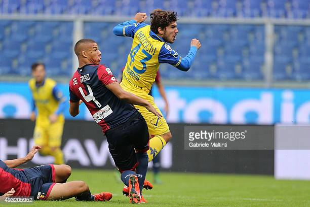 Alberto Paloschi of AC Chievo Verona scores the opening goal during the Serie A match between Genoa CFC and AC Chievo Verona at Stadio Luigi Ferraris...