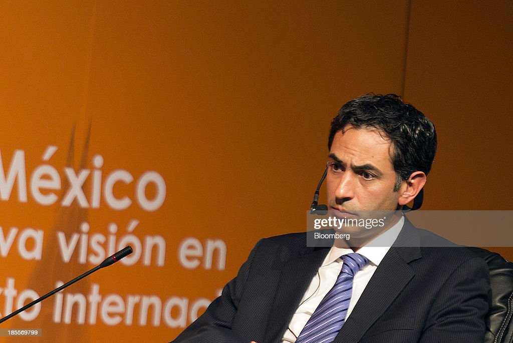 Alberto Perez Jacome, general director of Grupo Hermes Infraestructura, speaks at the Mexico Cumbre de Negocios Business Summit in Guadalajara, Mexico, on Monday, Oct. 21, 2013. Mexican retail sales unexpectedly fell in August from the year earlier, missing analysts estimates for the third time in four months and reinforcing calls for the central bank to cut interest rates this week. Photographer: Susana Gonzalez/Bloomberg via Getty Images