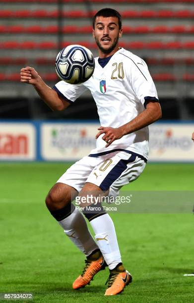 Alberto Picchi of Italy U20 in action during the 8 Nations Tournament match between Italy U20 and England U20 on October 5 2017 in Gorgonzola Italy