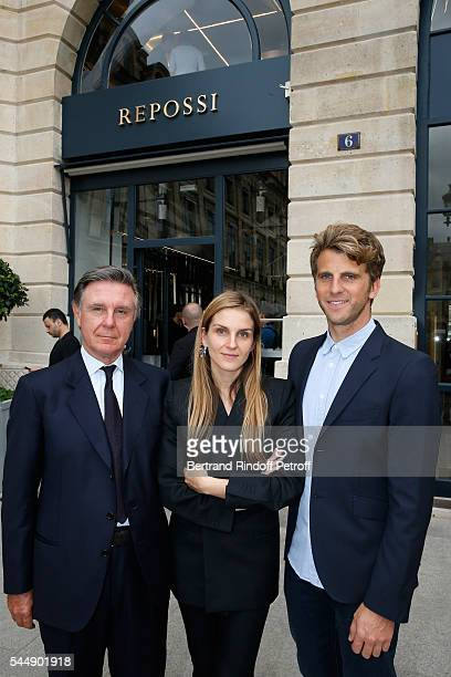 Alberto Repossi his daughter Creative director of the Italian jewellery brand Repossi Gaia Repossi and Jeremy Everett attend the Repossi Vendome...
