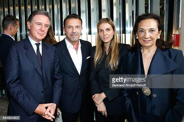 Alberto Repossi Olivier Widmaier Picasso Creative director of the Italian jewellery brand Repossi Gaia Repossi and Angela Repossi attend the Repossi...