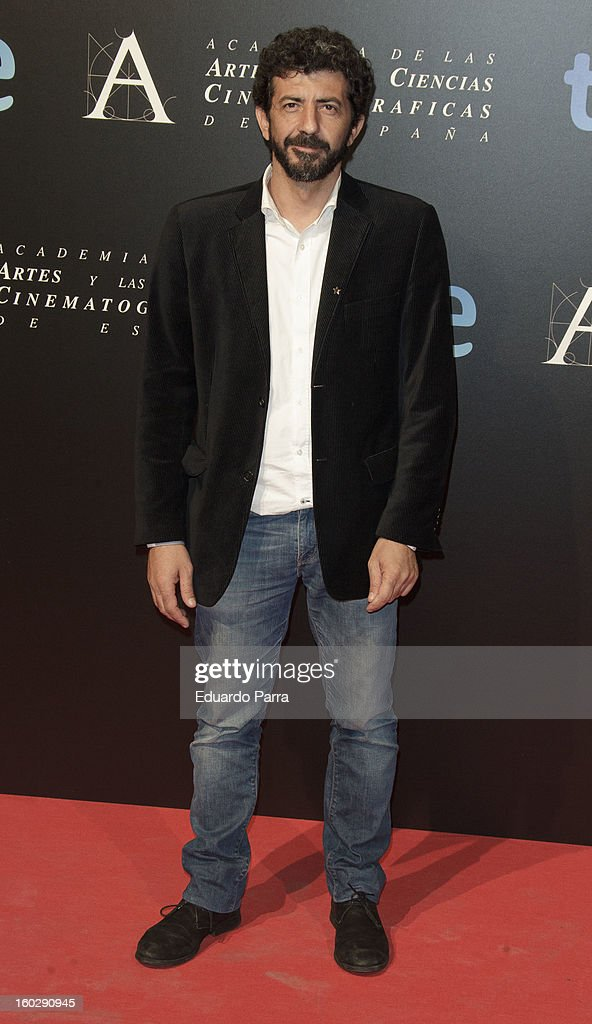 Alberto Rodriguez attends Goya awards final candidates party photocall at El Canal theatre on January 28, 2013 in Madrid, Spain.